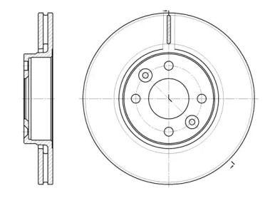 Вентилируемый передний тормозной диск на Ниссан Ноут 'ROADHOUSE 6683.10'.