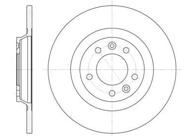 Задний тормозной диск на Пежо 407 'ROADHOUSE 6690.00'.