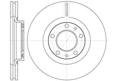 Вентилируемый передний тормозной диск на Пежо 407 'ROADHOUSE 6693.10'.