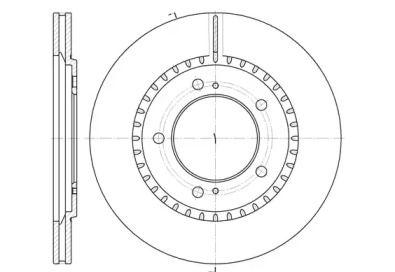 Вентилируемый передний тормозной диск на SUZUKI GRAND VITARA 'ROADHOUSE 6699.10'.