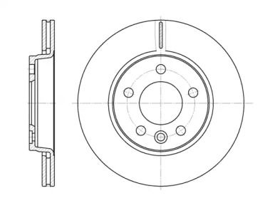 Вентилируемый задний тормозной диск на VOLKSWAGEN MULTIVAN 'ROADHOUSE 6707.10'.