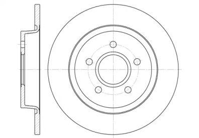 Задний тормозной диск на Форд Си макс 'ROADHOUSE 6712.00'.