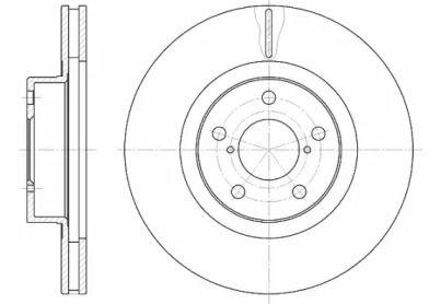 Вентилируемый передний тормозной диск на Субару Легаси Аутбек 'ROADHOUSE 6715.10'.