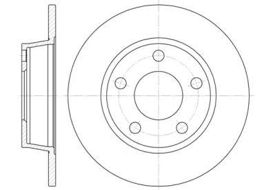 Задний тормозной диск на Ауди Олроуд 'ROADHOUSE 6723.00'.