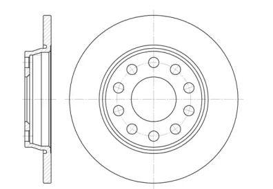 Задний тормозной диск на SEAT EXEO 'ROADHOUSE 6731.00'.