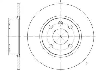 Задний тормозной диск на Опель Тигра 'ROADHOUSE 6738.00'.