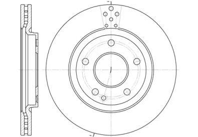 Вентилируемый передний тормозной диск на Мерседес Ванео 'ROADHOUSE 6748.10'.