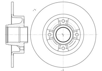Задний тормозной диск на RENAULT MODUS 'ROADHOUSE 6750.00'.