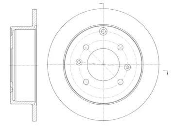 Задний тормозной диск на Хендай Матрикс 'ROADHOUSE 6757.00'.