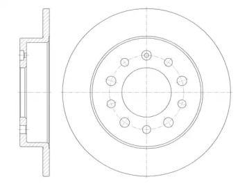Задний тормозной диск на Хендай Тибурон 'ROADHOUSE 6762.00'.