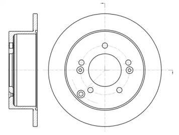 Задний тормозной диск на HYUNDAI XG 'ROADHOUSE 6766.00'.
