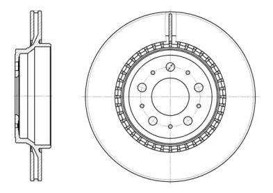 Вентилируемый задний тормозной диск на Вольво ХС90 'ROADHOUSE 6777.10'.