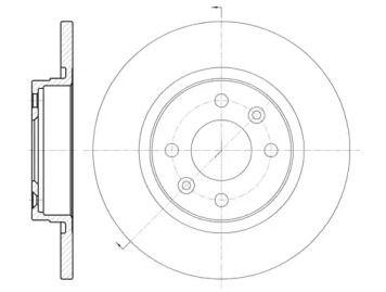 Передний тормозной диск на SMART FORTWO 'ROADHOUSE 6809.00'.
