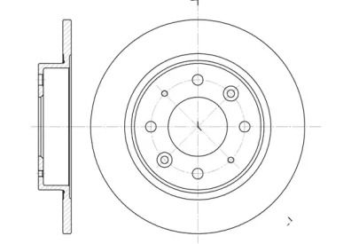 Задний тормозной диск на Киа Кларус 'ROADHOUSE 6813.00'.