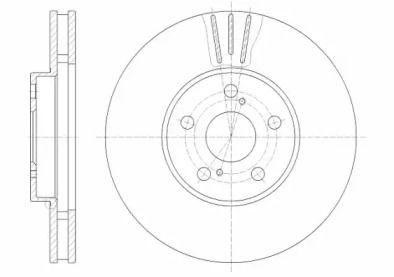 Вентилируемый передний тормозной диск на TOYOTA HIACE 'ROADHOUSE 6819.10'.