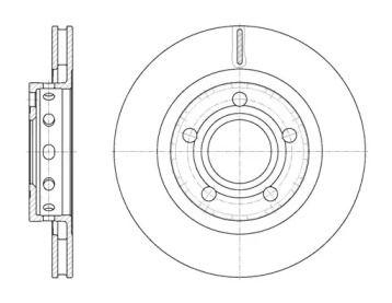 Вентилируемый задний тормозной диск на Мерседес Т2 'ROADHOUSE 6822.10'.