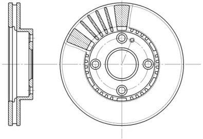 Вентильований передній гальмівний диск на Мазда Деміо ROADHOUSE 6834.10.