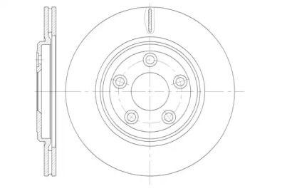 Вентилируемый задний тормозной диск на JAGUAR XJ 'ROADHOUSE 6837.10'.