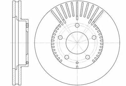 Вентильований передній гальмівний диск на Мазда Кседос 9 'ROADHOUSE 6840.10'.