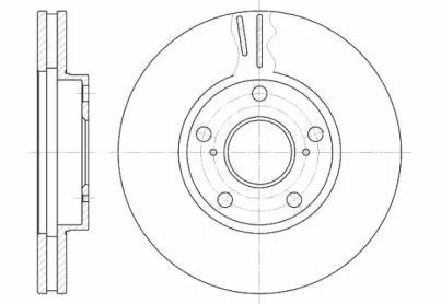 Вентилируемый передний тормозной диск на TOYOTA PREVIA 'ROADHOUSE 6842.10'.