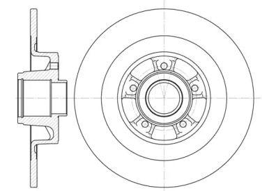 Задний тормозной диск на RENAULT VEL SATIS 'ROADHOUSE 6848.00'.