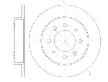 Задний тормозной диск на Киа Церато 'ROADHOUSE 6874.00'.