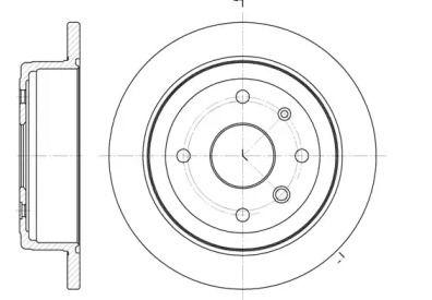 Задний тормозной диск на CHEVROLET EVANDA 'ROADHOUSE 6877.00'.