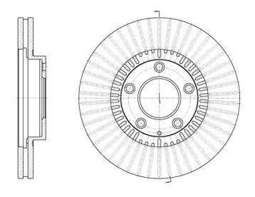 Вентилируемый передний тормозной диск на Мазда Кседос 9 'ROADHOUSE 6898.10'.