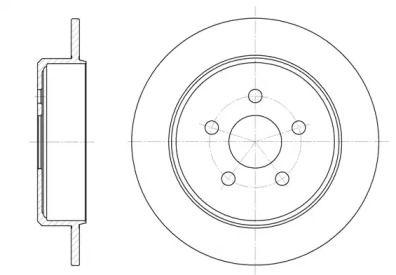 Задний тормозной диск на CHRYSLER PT CRUISER 'ROADHOUSE 6901.00'.