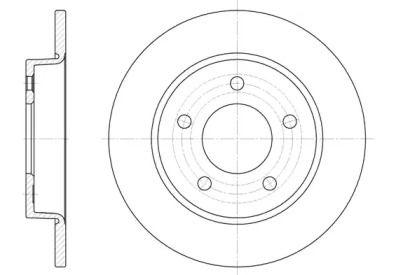 Задний тормозной диск на Мазда 3 'ROADHOUSE 6906.00'.