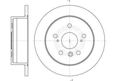 Задний тормозной диск на TOYOTA SOLARA 'ROADHOUSE 6908.00'.