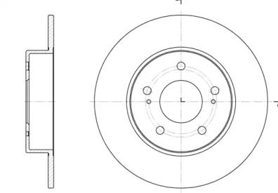 Задний тормозной диск на Ниссан Максима 'ROADHOUSE 6909.00'.