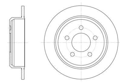 Задний тормозной диск на Джип Вранглер 'ROADHOUSE 6913.00'.