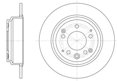 Задний тормозной диск на Хонда Шатл 'ROADHOUSE 6922.00'.