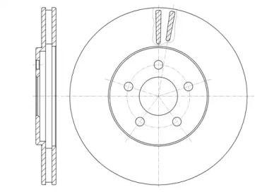 Вентилируемый передний тормозной диск на CHRYSLER STRATUS 'ROADHOUSE 6946.10'.