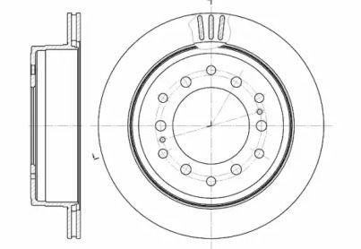 Вентилируемый задний тормозной диск на Лексус Джи Икс 'ROADHOUSE 6956.10'.