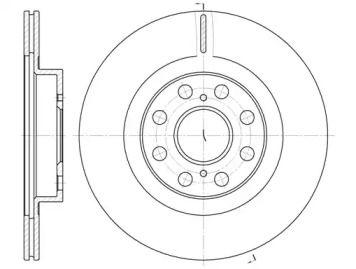 Вентилируемый задний тормозной диск на Лексус РХ 'ROADHOUSE 6961.10'.