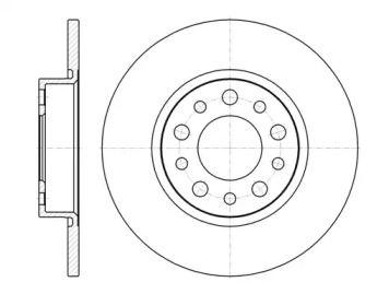 Задний тормозной диск на Альфа Ромео Брера 'ROADHOUSE 6967.00'.