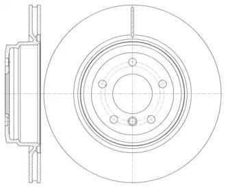 Вентилируемый задний тормозной диск на BMW X1 'ROADHOUSE 6976.10'.