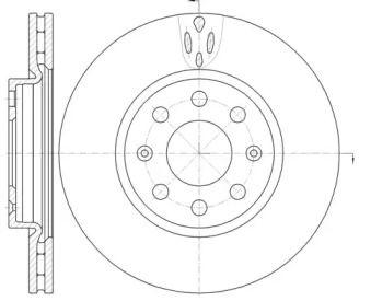 Вентилируемый передний тормозной диск на OPEL ADAM 'ROADHOUSE 6981.10'.