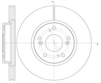 Вентилируемый передний тормозной диск на Хонда ФРВ 'ROADHOUSE 6986.10'.