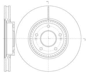 Вентилируемый передний тормозной диск на Хендай Ай40 'ROADHOUSE 6988.10'.