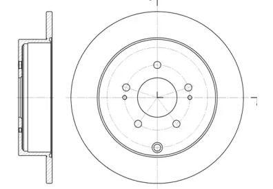Задний тормозной диск на Митсубиси Грандис 'ROADHOUSE 6997.00'.