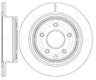 Вентилируемый задний тормозной диск на Ниссан Лиф 'ROADHOUSE 6998.10'.
