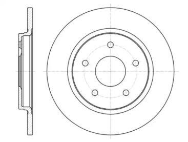 Задний тормозной диск на FIAT FREEMONT 'ROADHOUSE 61394.00'.