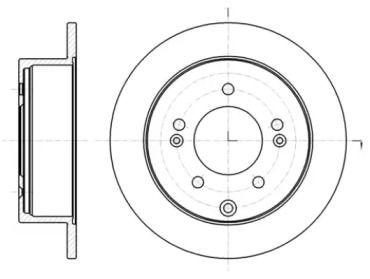 Задний тормозной диск на KIA CERATO KOUP 'ROADHOUSE 61401.00'.