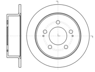 Задний тормозной диск на Санг Йонг Актион Спорт 'ROADHOUSE 61414.00'.