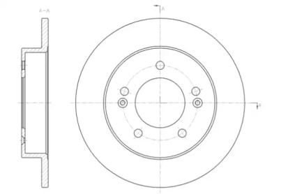 Задний тормозной диск на Хендай Ай икс 20 'ROADHOUSE 61432.00'.