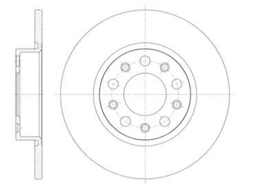 Задний тормозной диск на Джип Ренегат 'ROADHOUSE 61426.00'.