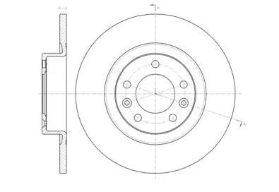 Задний тормозной диск на PEUGEOT 508 'ROADHOUSE 61473.00'.